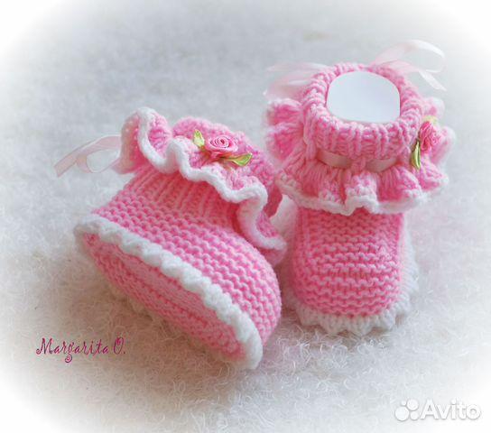 Пинетки для новорожденного спицами своими руками - Эдванс СБ