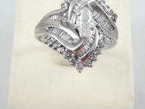 Золотое кольцо 750 проба с бриллиантами