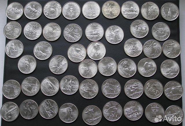 Монеты 25 центов штаты денежная единица в скандинавии