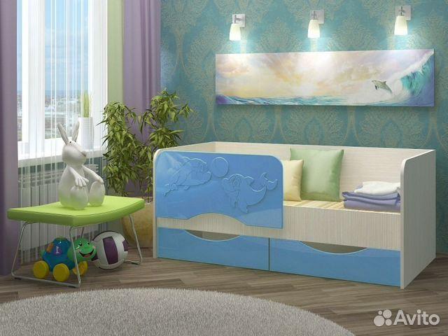 Детская кровать дельфин мдф 1.6 м