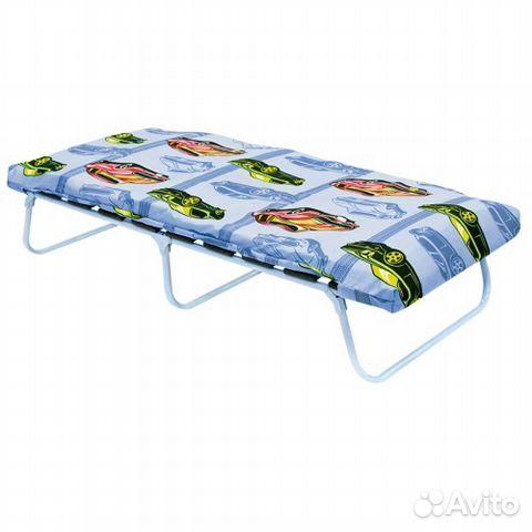 Кровать раскладушка на ламелях с матрасом купить