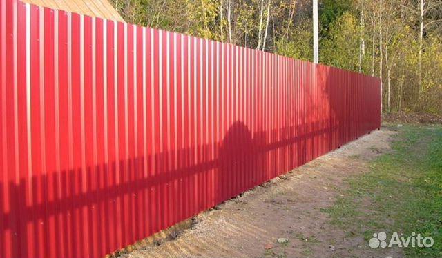 заборы из профнастила с откатными воротами в обнинске