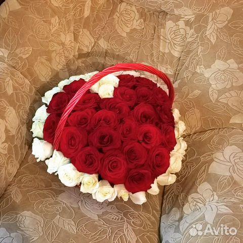 Цветочнаяя композиция из роз в корзине сердце 89297774456 купить 2