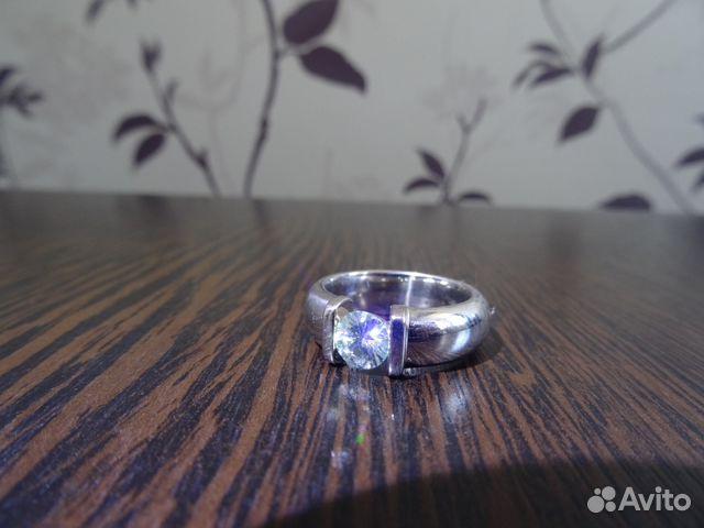 Кольцо из белого золота 585 пробы с муассонитом   Festima.Ru ... 78506bfe4c3
