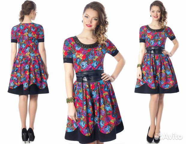 885f712447b Новое элегантное платье с расклешенной юбкой р.50