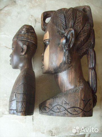 Две статуэтки. Черное дерево. Африка 70 - е года 89087998445 купить 2