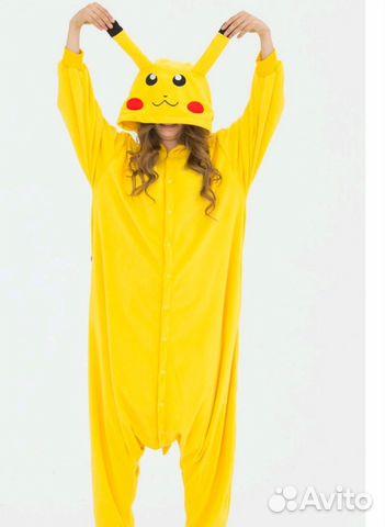 Пижама кигуруми пикачу L-170 92 купить в Саратовской области на ... ccc0c5a63c30d