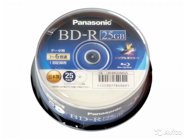 Диски BD-R BD-RE 25Gb 50Gb made in Japan