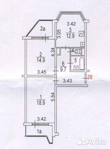 Продается двухкомнатная квартира за 7 477 000 рублей. Москва, улица Маршала Савицкого, 8.