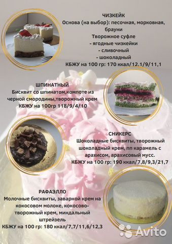 низкокалорийные десерты спб