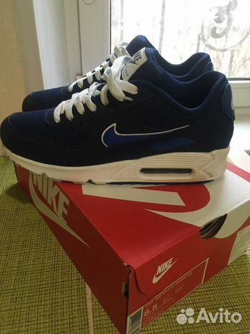 8f2edbda Кроссовки Nike Air Max '90 Essential blue купить в Москве на Avito ...