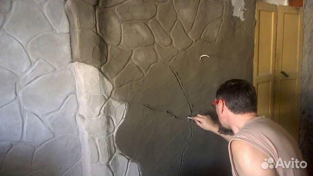 штукатурка под камень из плиточного клея