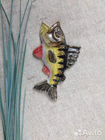 Керамическая рыбка-магнит Окунь