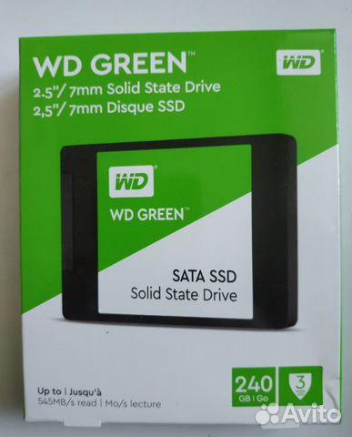 Твердотельный накопитель SSD WD green 240 GB sata3