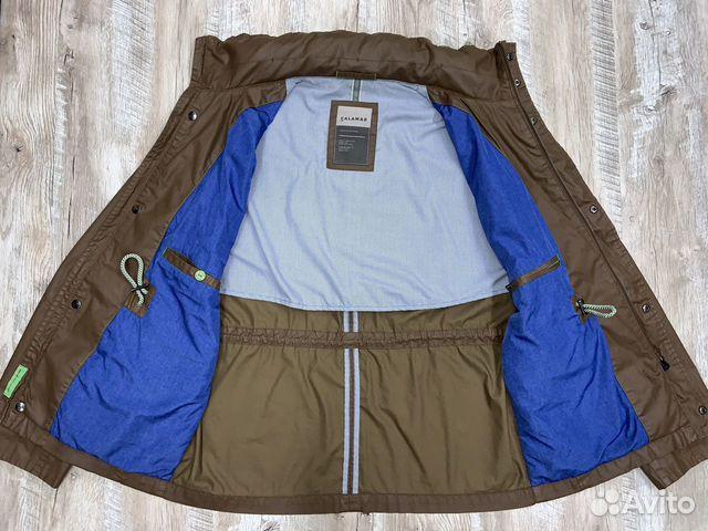 Мужская коричневая прорезиненная куртка Calamar  89218780739 купить 8