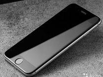 Противоударное стекло 5D для iPhone 6 plus черное