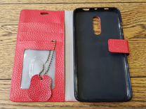 Чехол книжка красный для Xiaomi note 4X новый