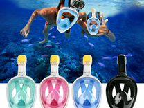 Подводная полнолицевая маска для плавания (сноркли