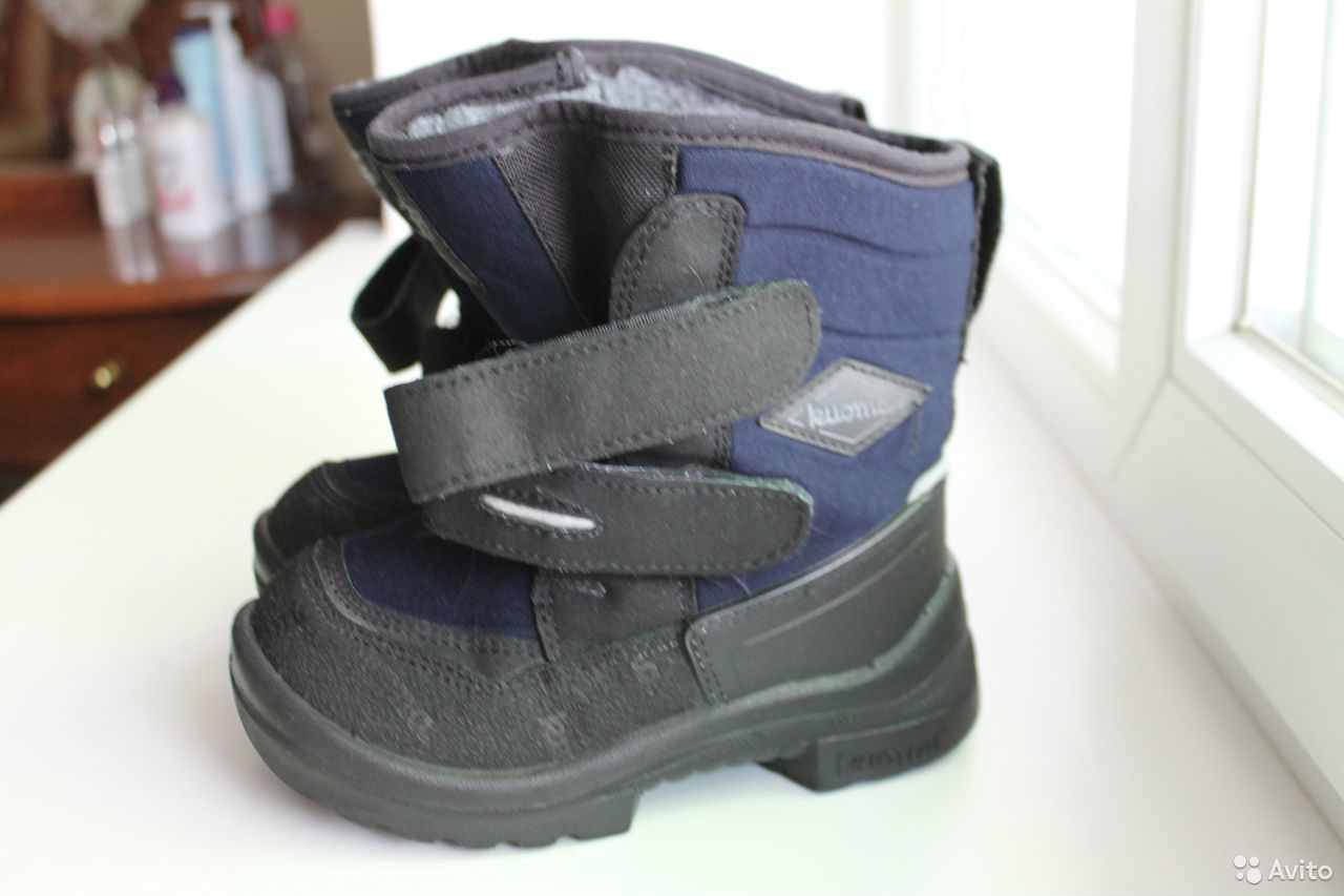 Ботинки для мальчика kuoma (зима), 28 размер  89782572220 купить 1