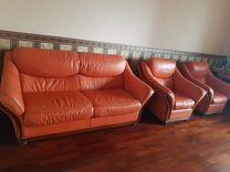 Диван кожаный Италия — Мебель и интерьер в Москве