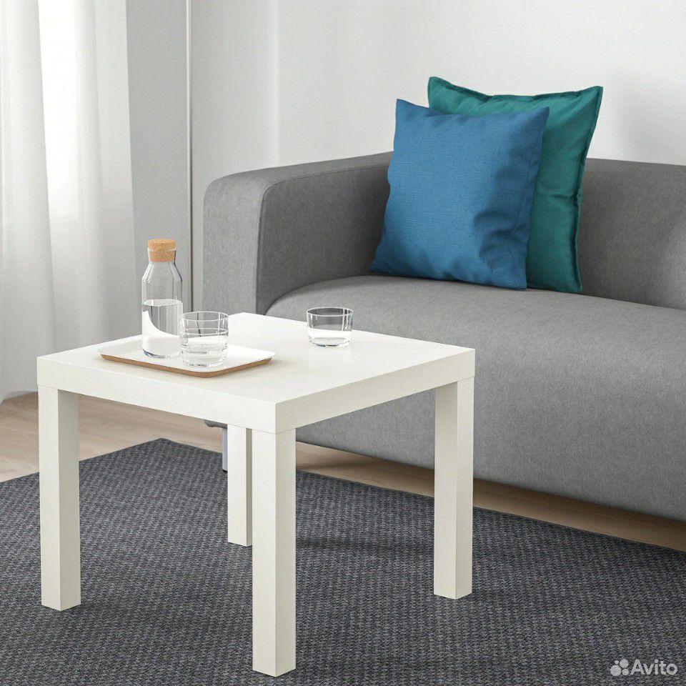 Лаккпридиванный столик, белый55x55 см  89632945800 купить 2