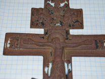 Старинное латунное распятие.Крест.Эмали-27