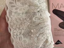 Чулки белые, размер 2+ трусики в подарок